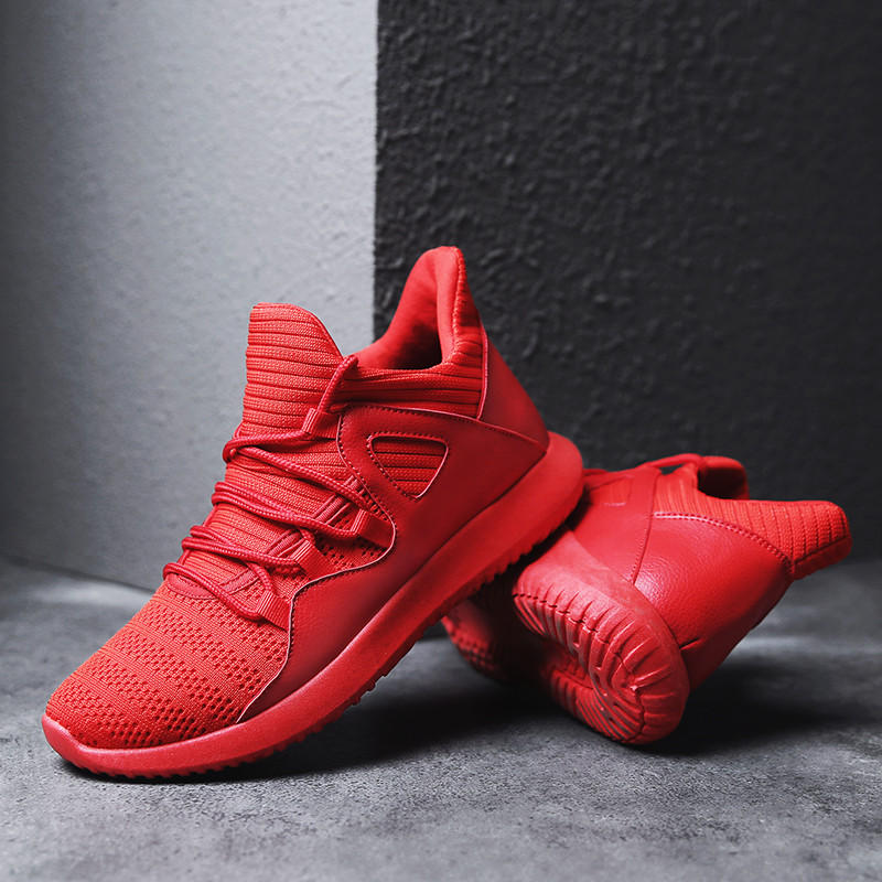 Men Microfiber Leather Stitching Soft Lace Up Running Sneakers Waterproof Non-Slip Fashion Shoes - 8