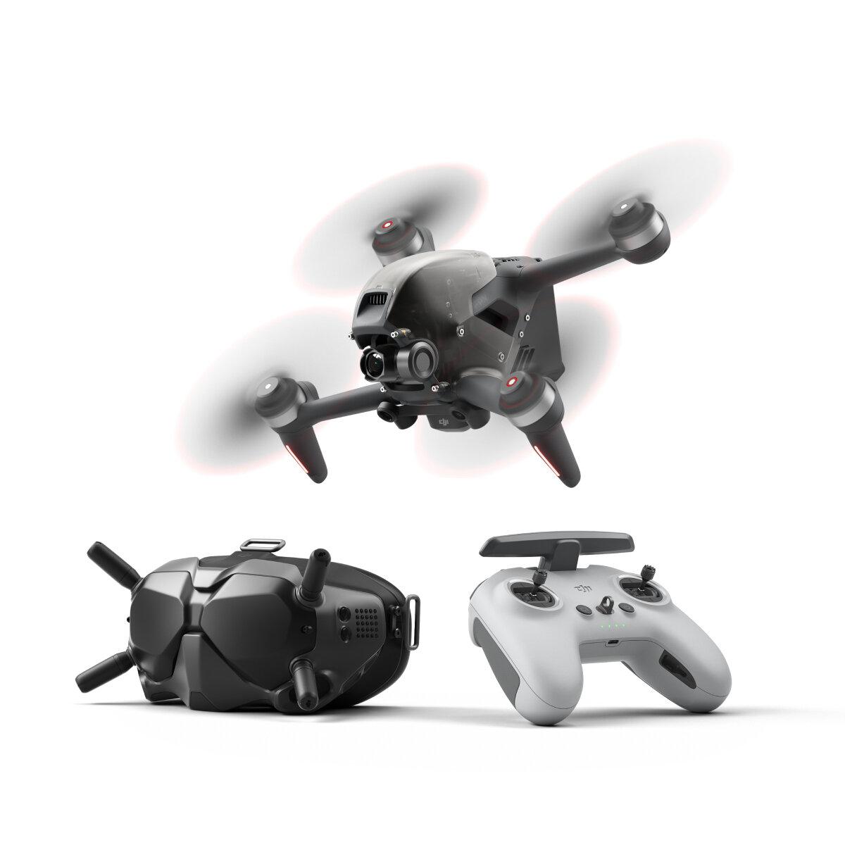 DJI FPV Combo 10KM 1080P FPV 4K 60fps Camera 20mins Flight Time 140 km/h Speed FPV Racing Drone RC Quadcopter FPV Goggles V2 5.8GHz Transmitter Mode2