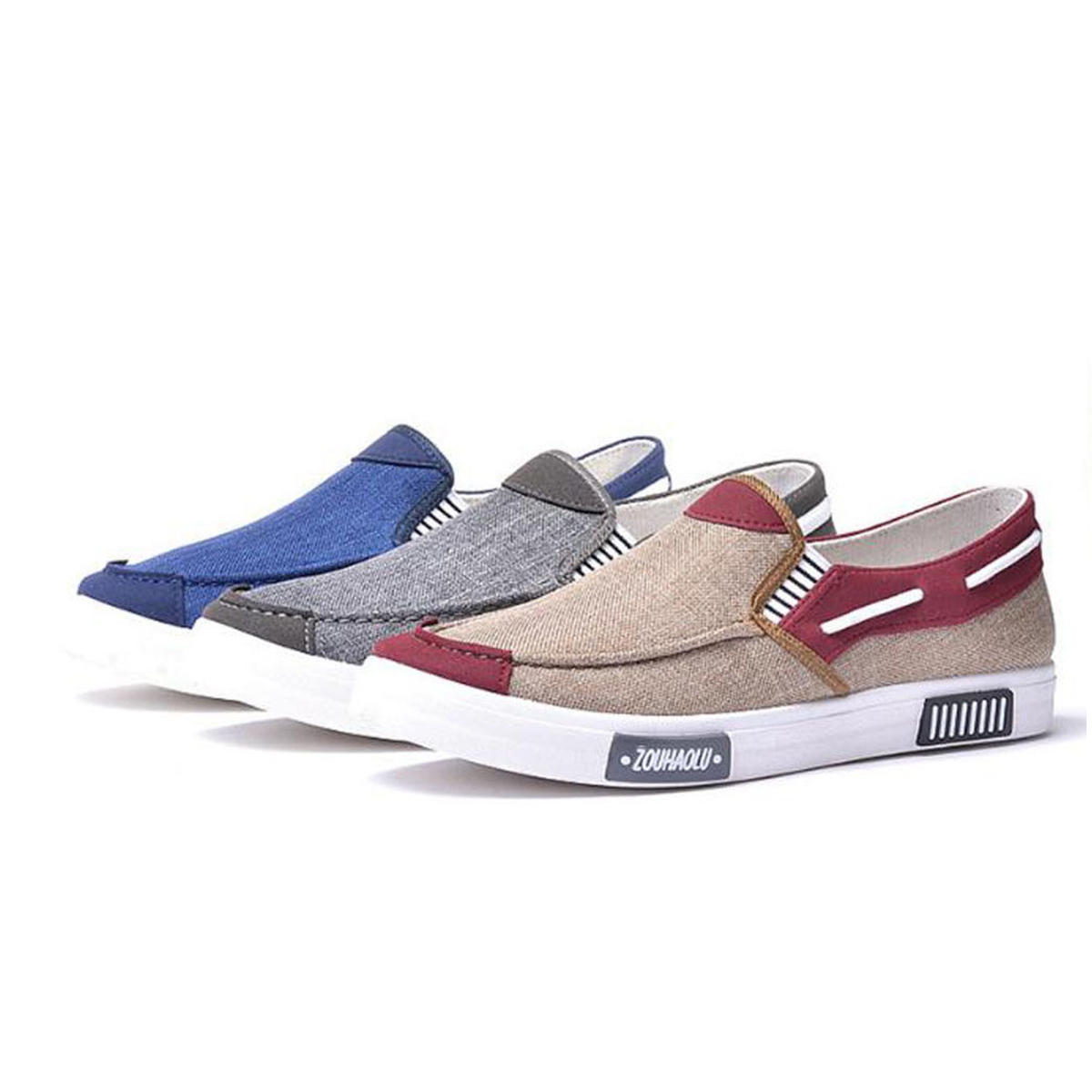 Men's Canvas Shoes Casual Sports Light Breathable Comfortable Sports Shoes Sneakers - 1
