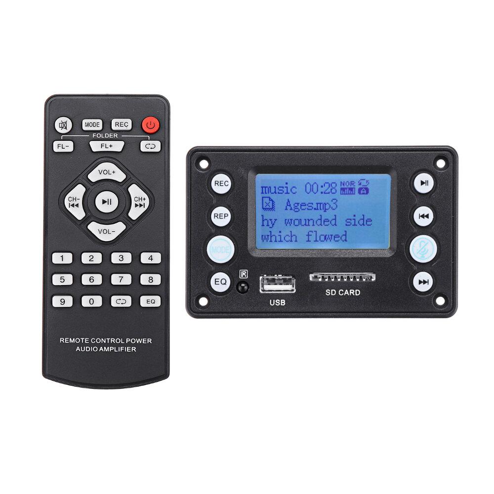 ブルートゥース4.2 dc5ボルトバッテリー12ボルト2チャンネルオーディオデコーダボード録音ラジオ歌詞表示エイプフラックWMA WAV mp3