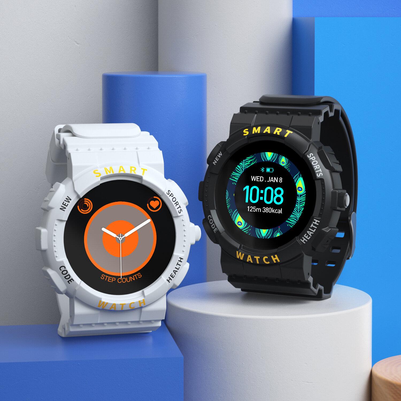 [bluetooth Call] Bakeey Z19 1.54 inch BT5.0 Heart Rate Monitor Blood Pressure Oxygen Temperature Measure BT Music Customized Watch Face Smart Watch