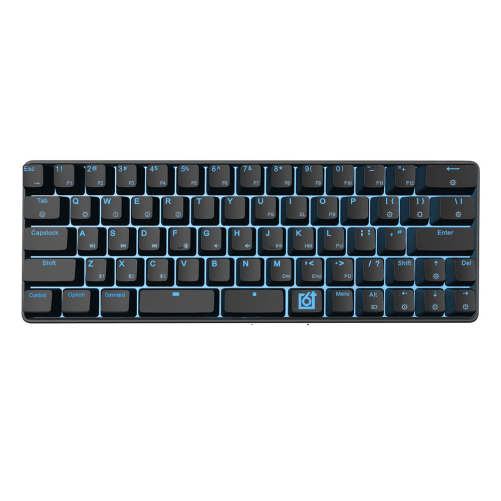 GK66 bluetooth USB-C Dual Mode Split-Spacebar Hot-swappable Gateron Optical Switch RGB Mechanical Gaming Keyboard