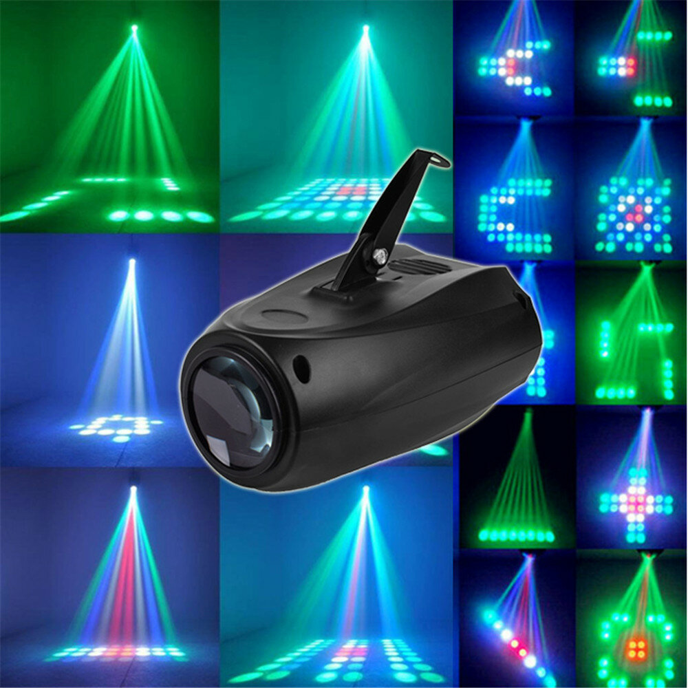 RGB Remote DMX512 Voice Activated 36 LED Stage Light Party Disco KTV Lamp 110-240V - 1