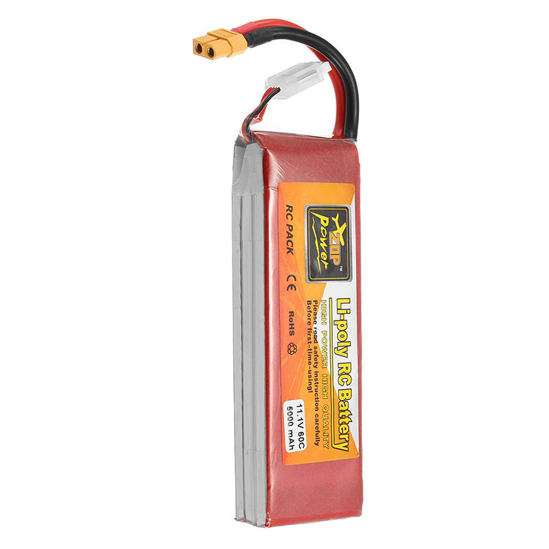 ZOP Power 11.1V 5000mAh 3S 60C Lipo Battery XT60 Plug - 2