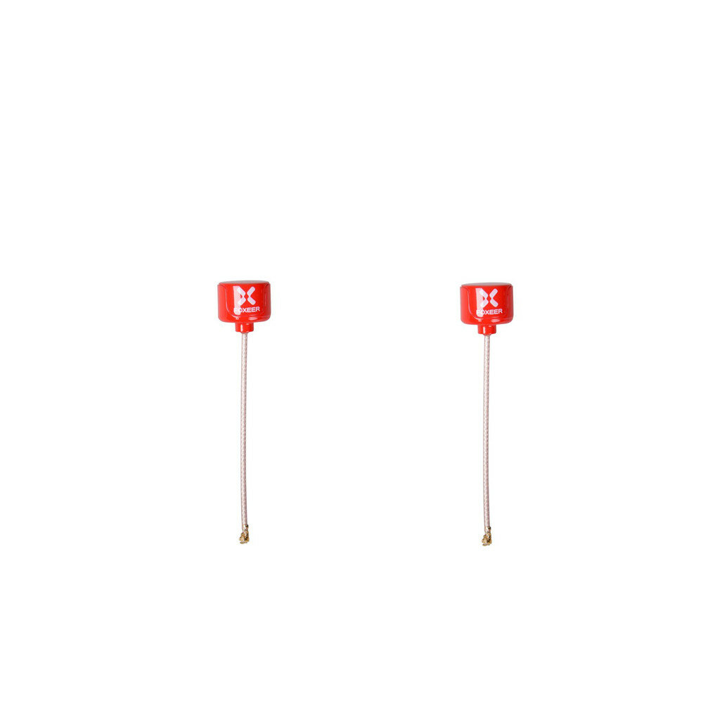 2pcs Foxeer 5.8G Lollipop 3 RHCP 2.5DBi Omni FPV Antenna U.FL for RC Drone Black/Red/Purple/Fluorescent Green