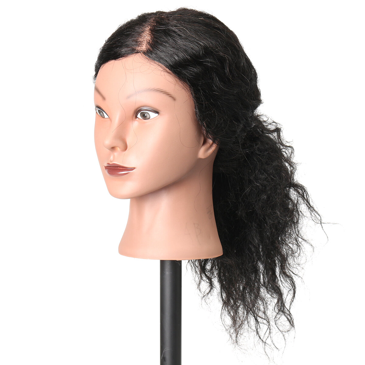 Female Plastic Mannequin Head Wig Hair Display Model Stand 3 Colors - 6