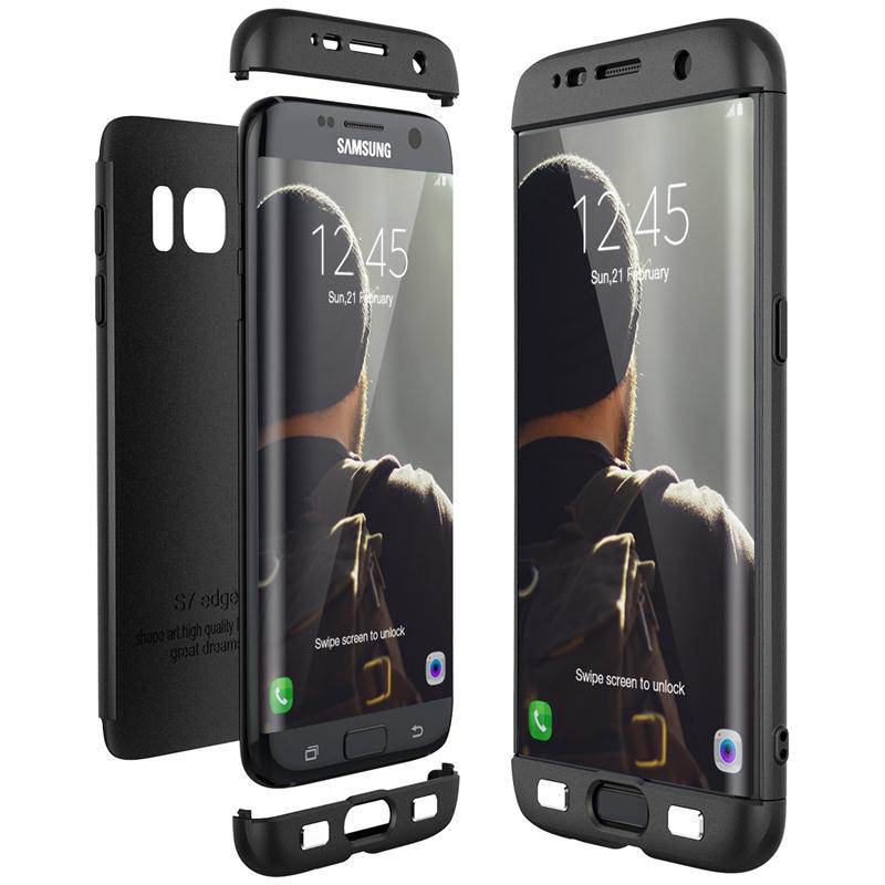 buy online 4d4a4 6d888 Bakeey™ 3 in 1 Double Dip 360° Protective Case Hard PC Cover for Samsung  Galaxy S7/S7 Edge