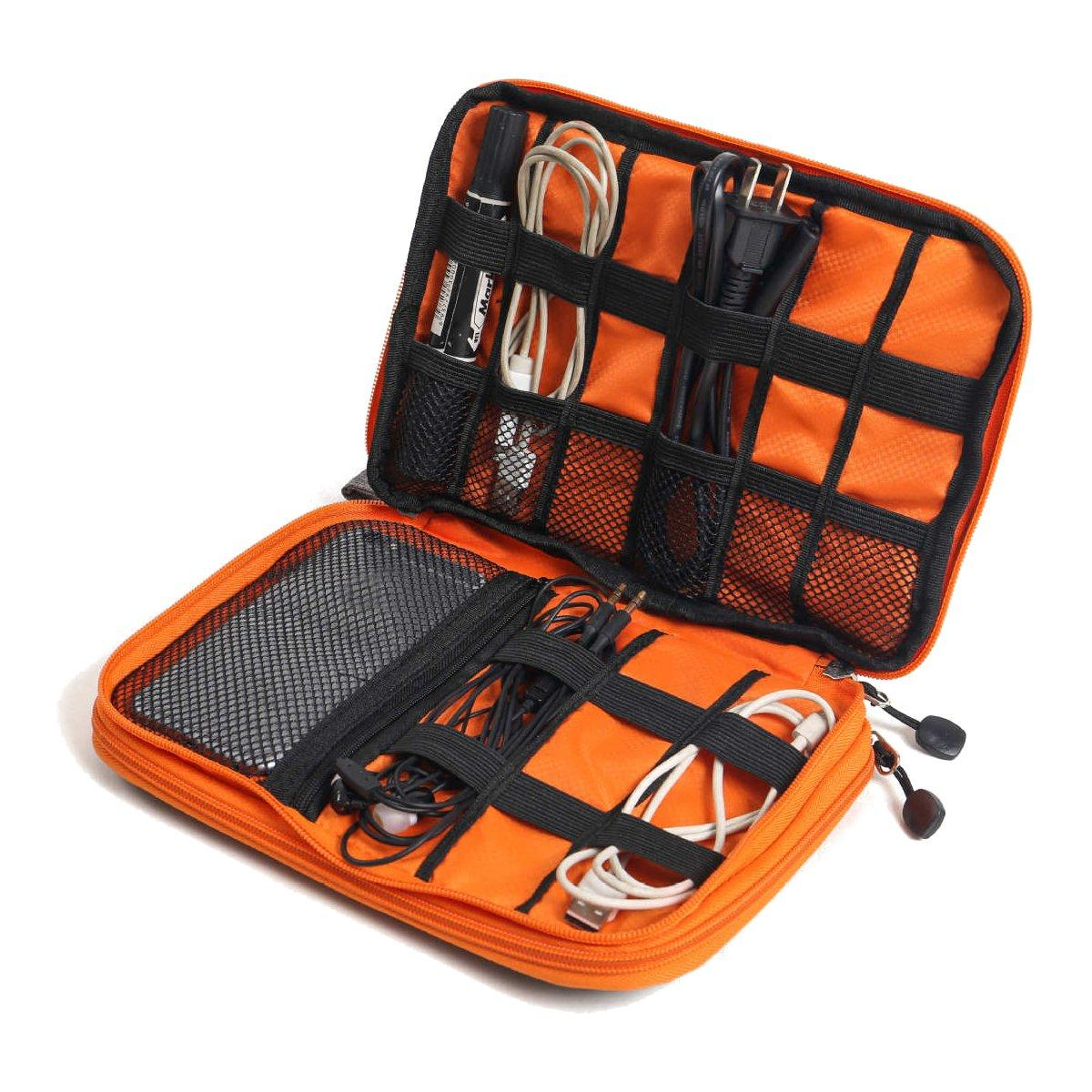 Portable Data Cable Storage Bag Double Layer USB Gadget Organizer Digital Pouch Outdoor Travel