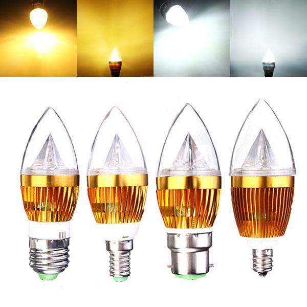 E12 E14 E27 B22 Dimmerabile 3W LED Lampadario Candela Lampadina 220 V