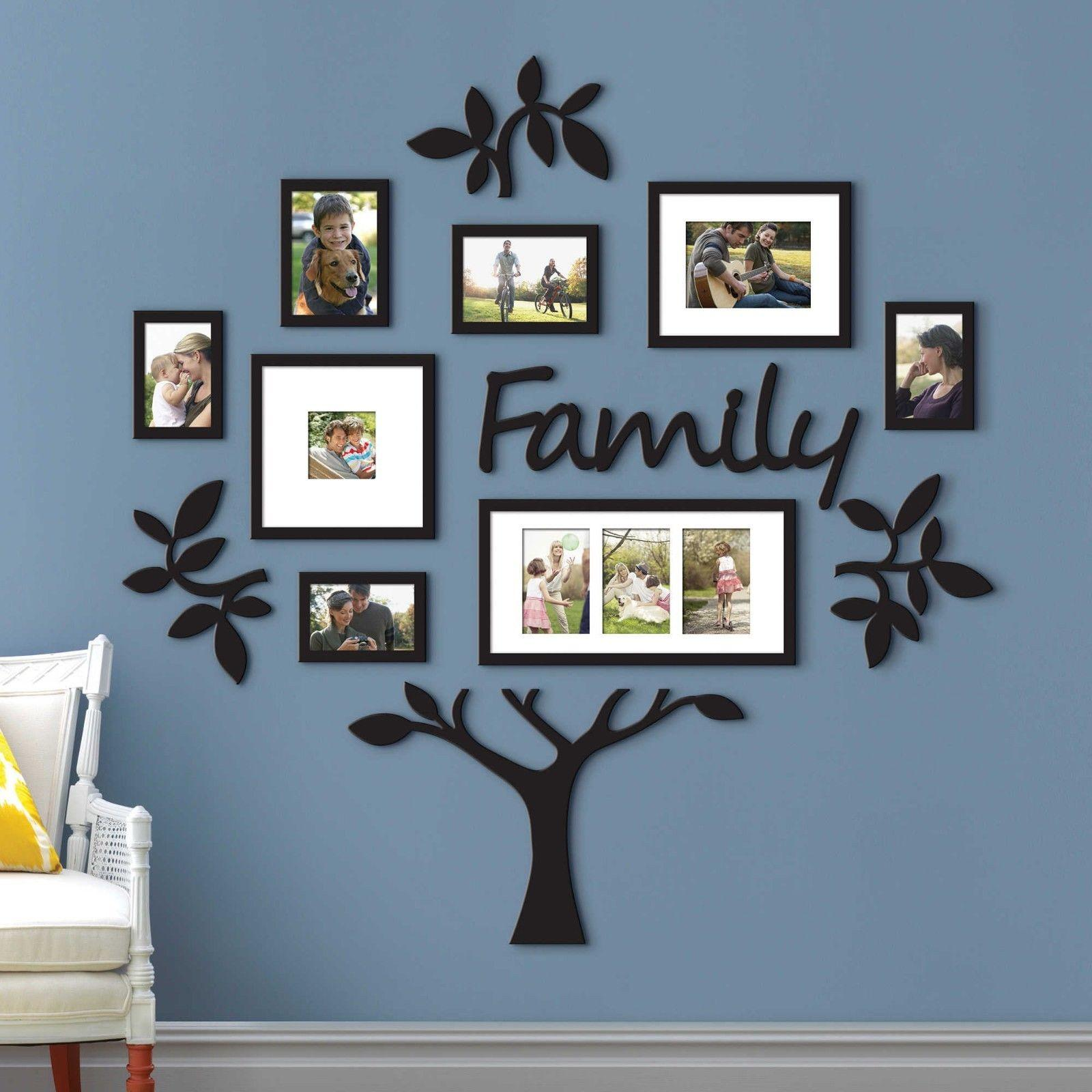 Family Tree Frame Collage Pictures Photo Wall Mount Decor Wedding