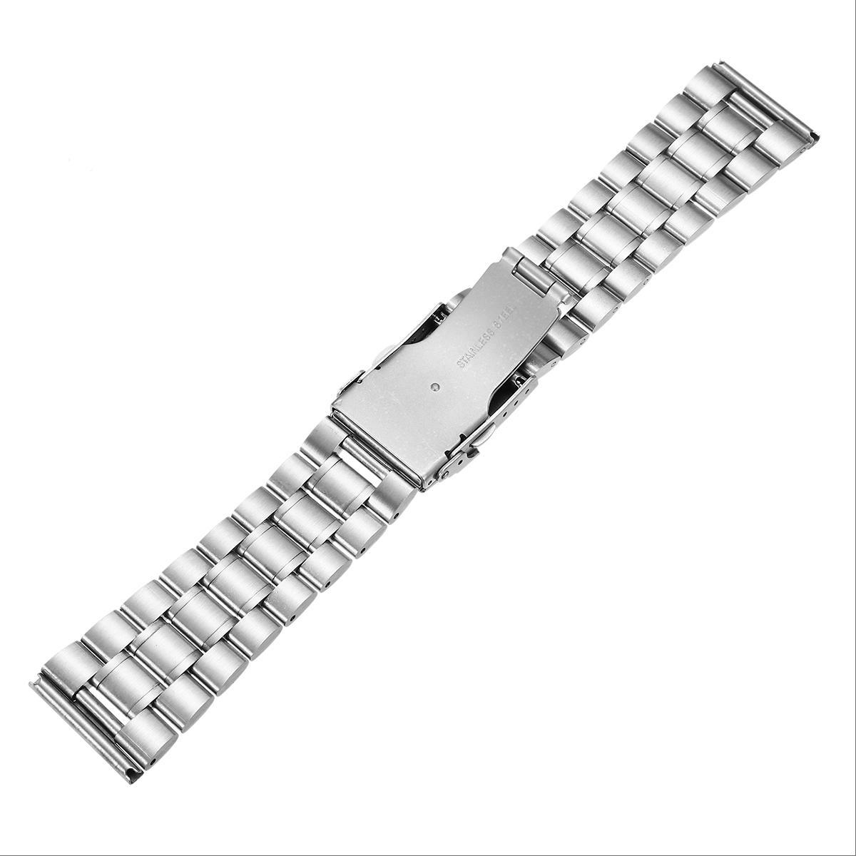 18/20/22 / 24mm Rplacement Pria Stainless Steel Watch Band Strap Ganda Lock Balik Gelang