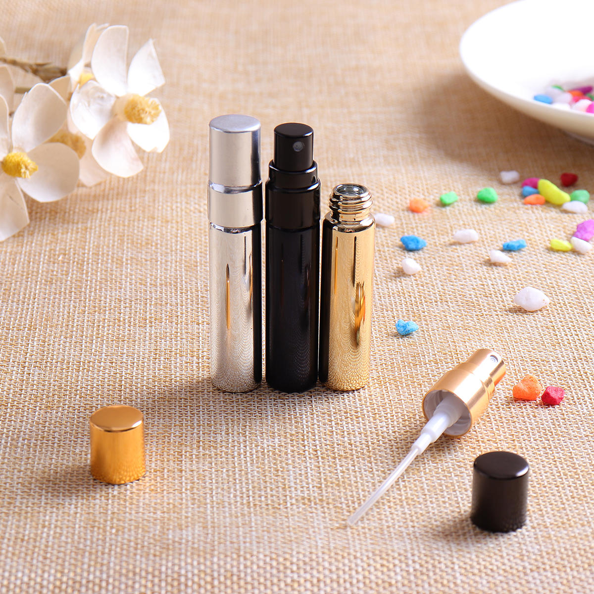 12ml Empty Perfume Bottle Metal Roller Ball Refillable - 9