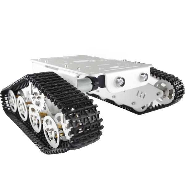 T300 Aluminum Alloy Track Caterpillar Chassis Smart Robot Car DIY Kit with Dual Motor