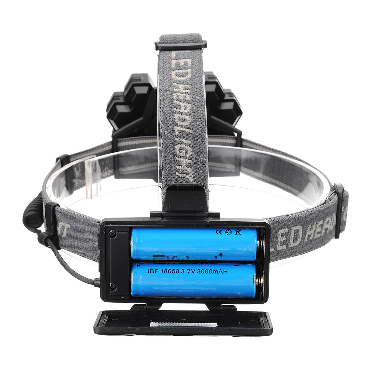 BORUiT B50 L2+4xXPG2 1200LM 6 Modes 160°Rotatable Type-C Headlamp Outdoor Cycling Camping Multifunctional Headlamp - 3