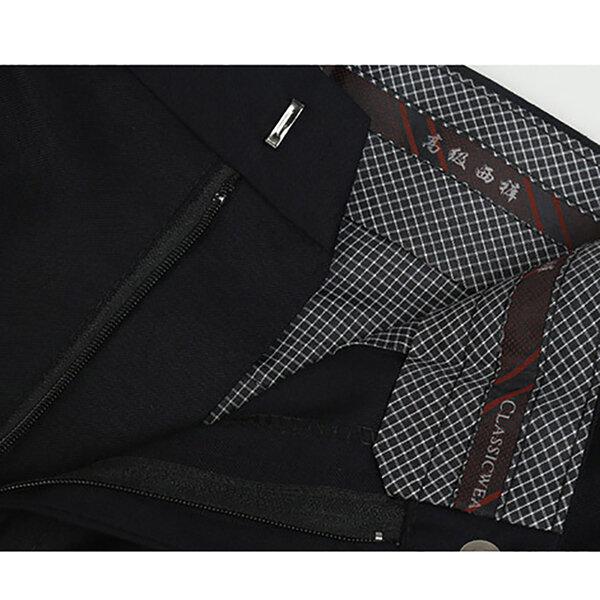 Mens Corduroy Vintage Jogger Pure Color Elastic Waist Pants - 6