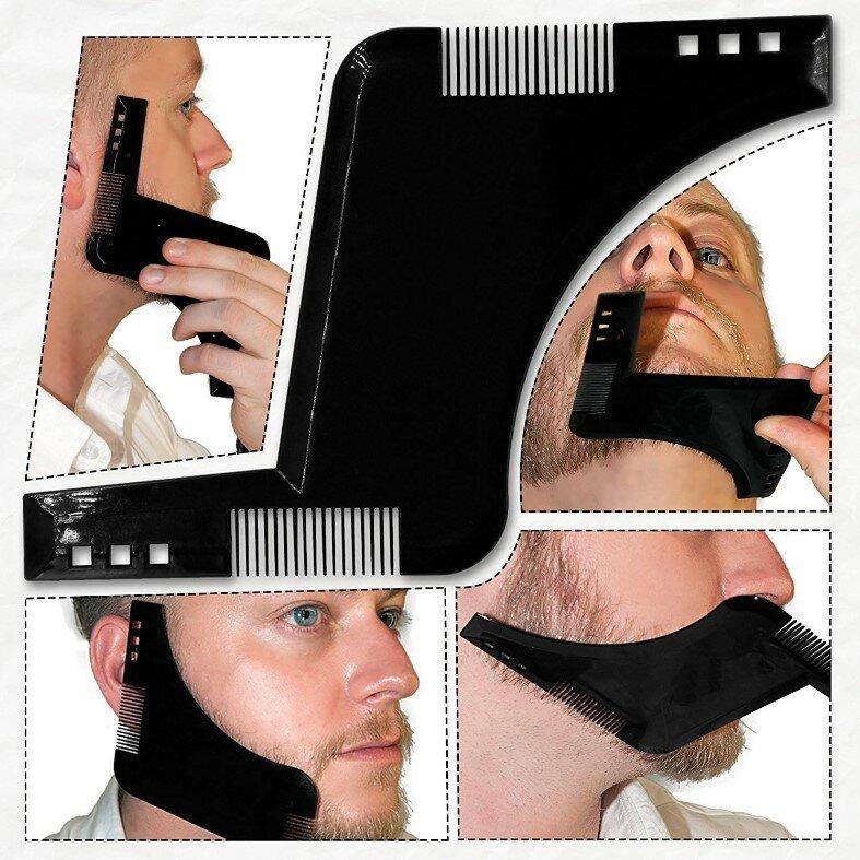 Pettine per pettinatura barba per pettinatura Barba simmetrica Kit guida per modellatura stilografica