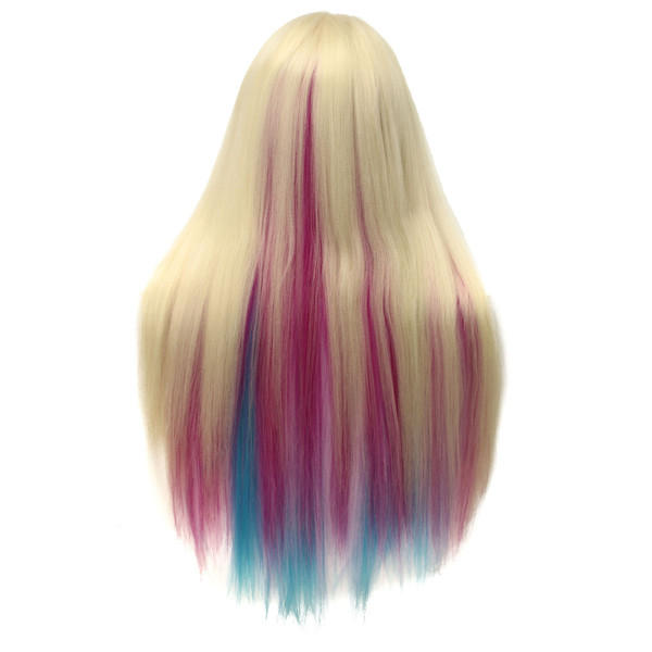 27'' Colorful Practice Training Head Long Hair Mannequin Hairdressing Salon Model - 7