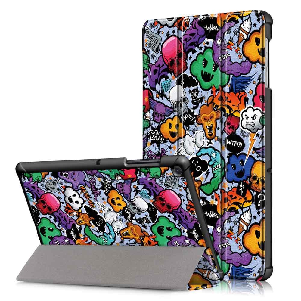 Tri-Fold Pringting Tablet Cover för Samsung Galaxy Tab S5E SM-T720 SM-T725 Tablet - Doodle - 1