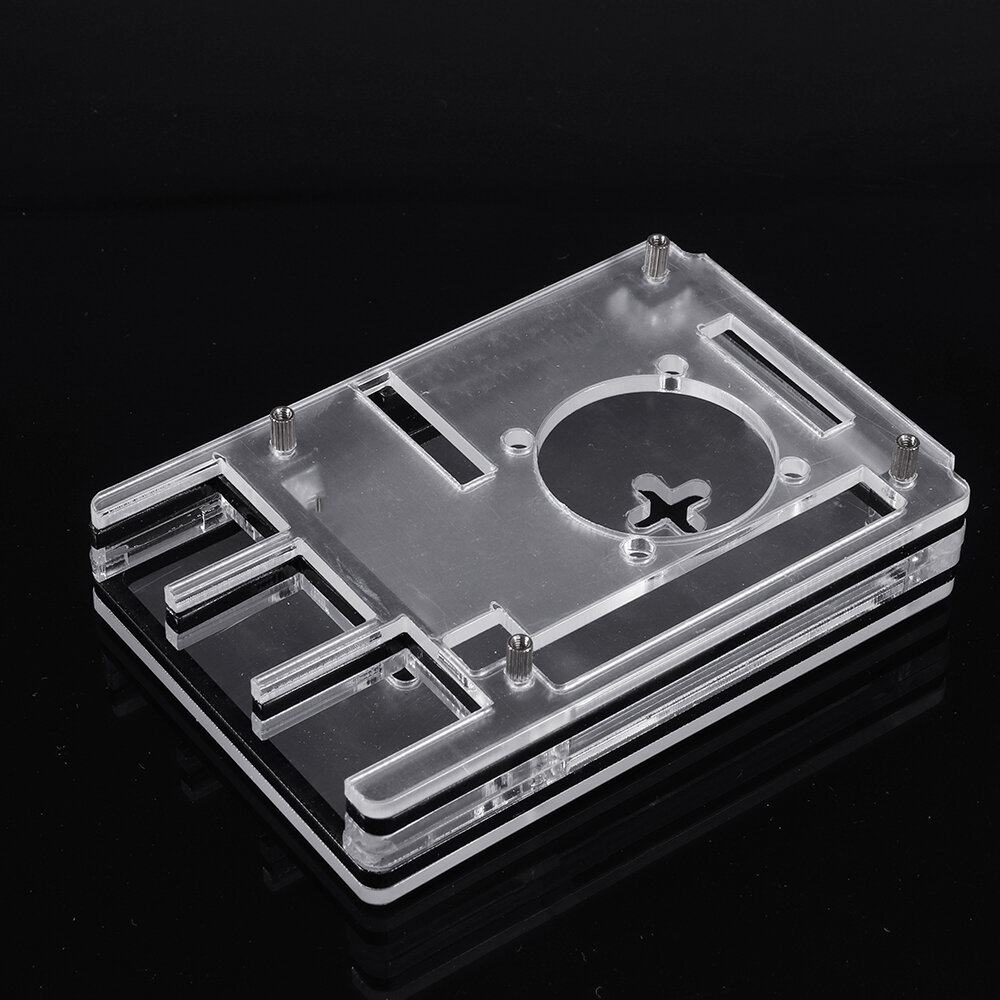 6-Layer Acrylic Transparent Protective Case for Raspberry Pi 4B Support Touch Screen Instal