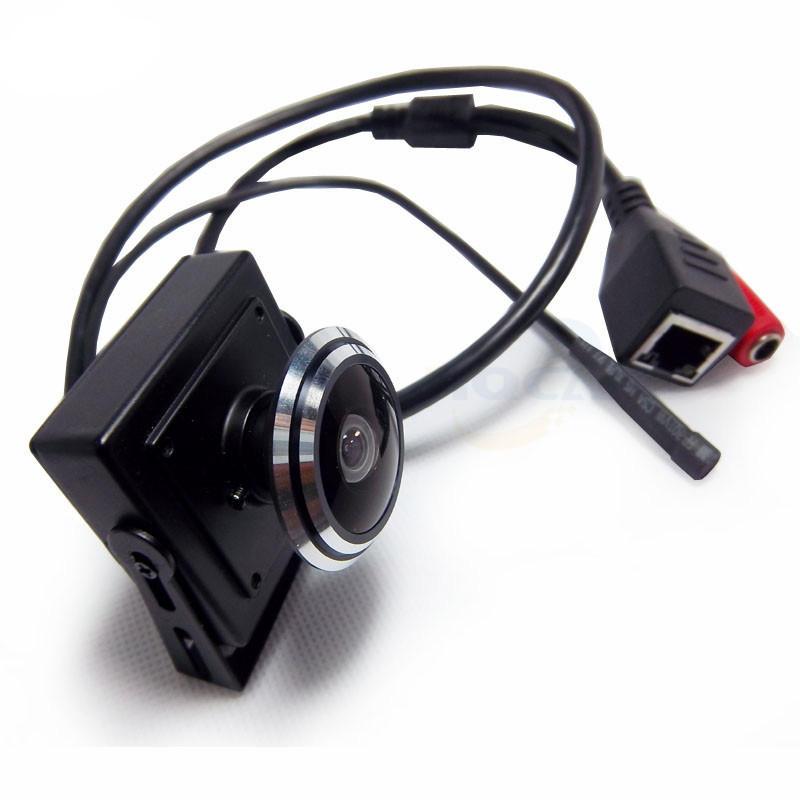 HQCAM 1080P Caméra vidéo audio MINI Caméra IP H.264 Caméra microphone P2P Réseau Fisheye grand angle 1,78 mm