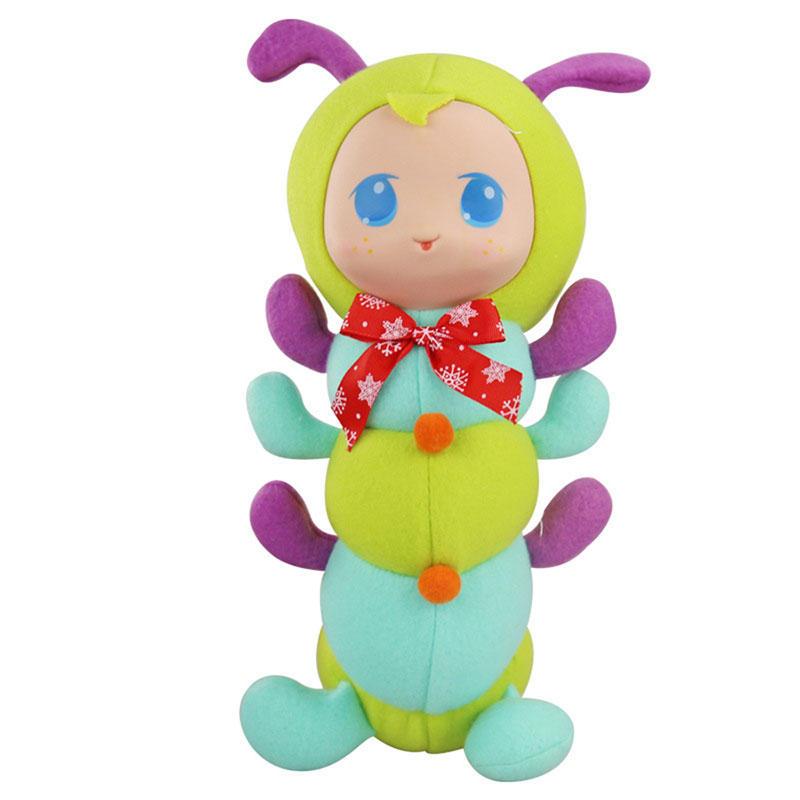 Caterpillar Фаршированная перед сном Playmate Короткая плюшевая игрушка Подарочная коллекция декора - 1