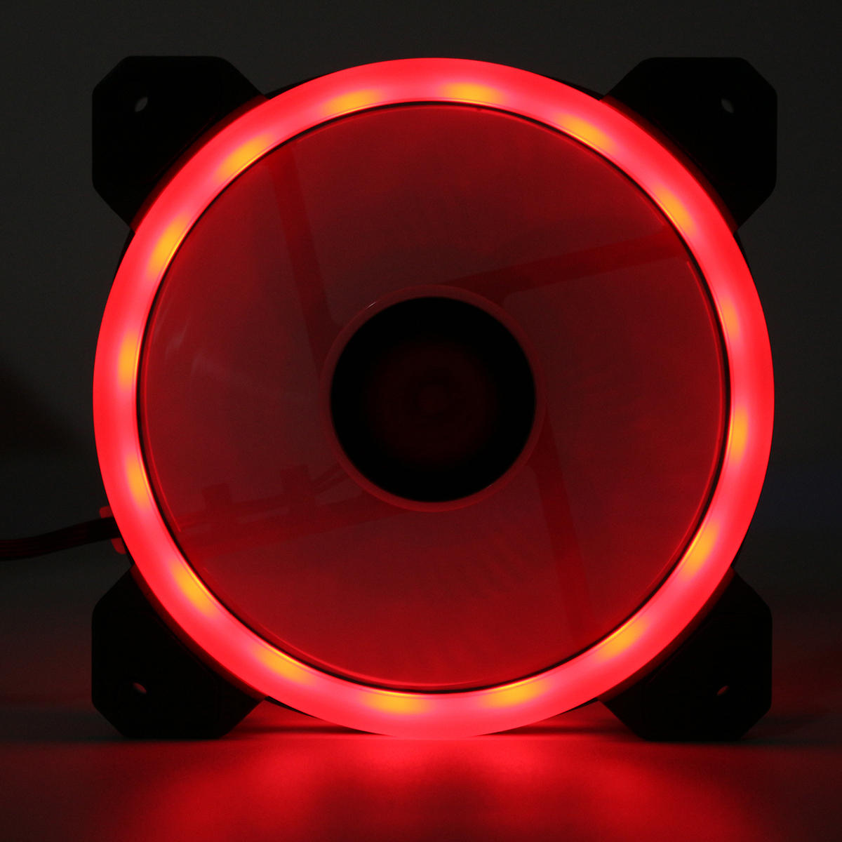 Coolmoon 6PCS 120mm Multilayer Backlit RGB Cooling Fan Computer Case PC CPU Cooling Fan with the Remote Control - 6