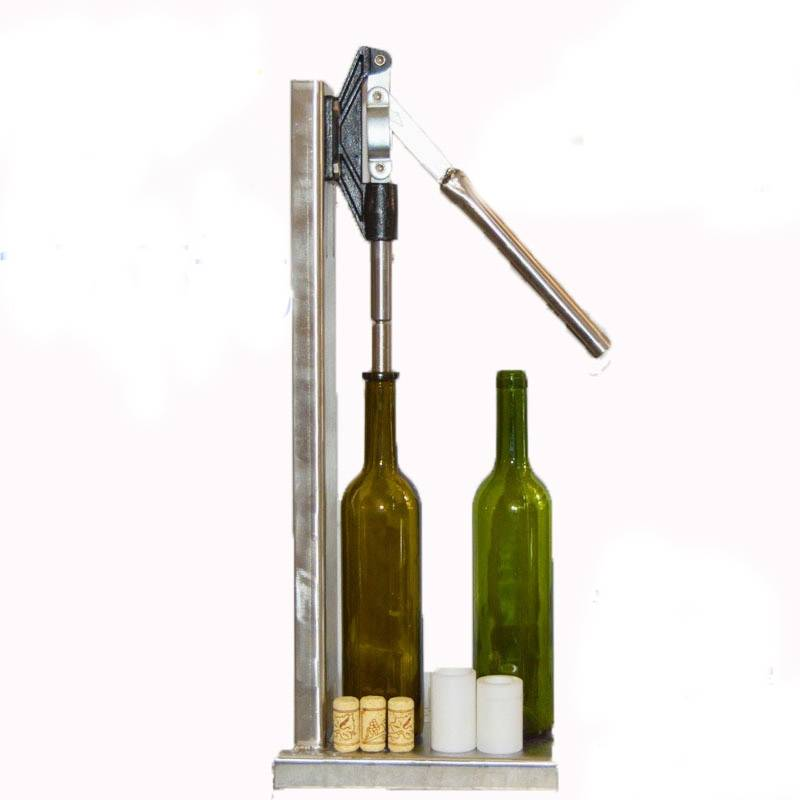 Stainless Steel Manual Bottle Corking Machine Home Brew Wine Bottle Cap Pressing Machine