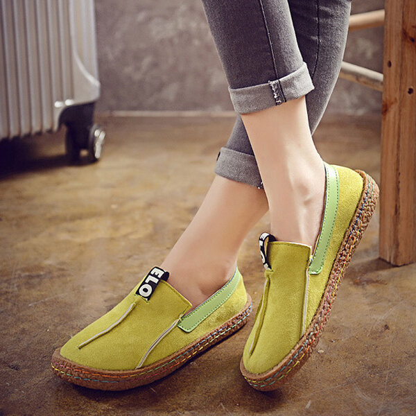 Comfortable Hollow Out Splicing Flat Loafers - 7