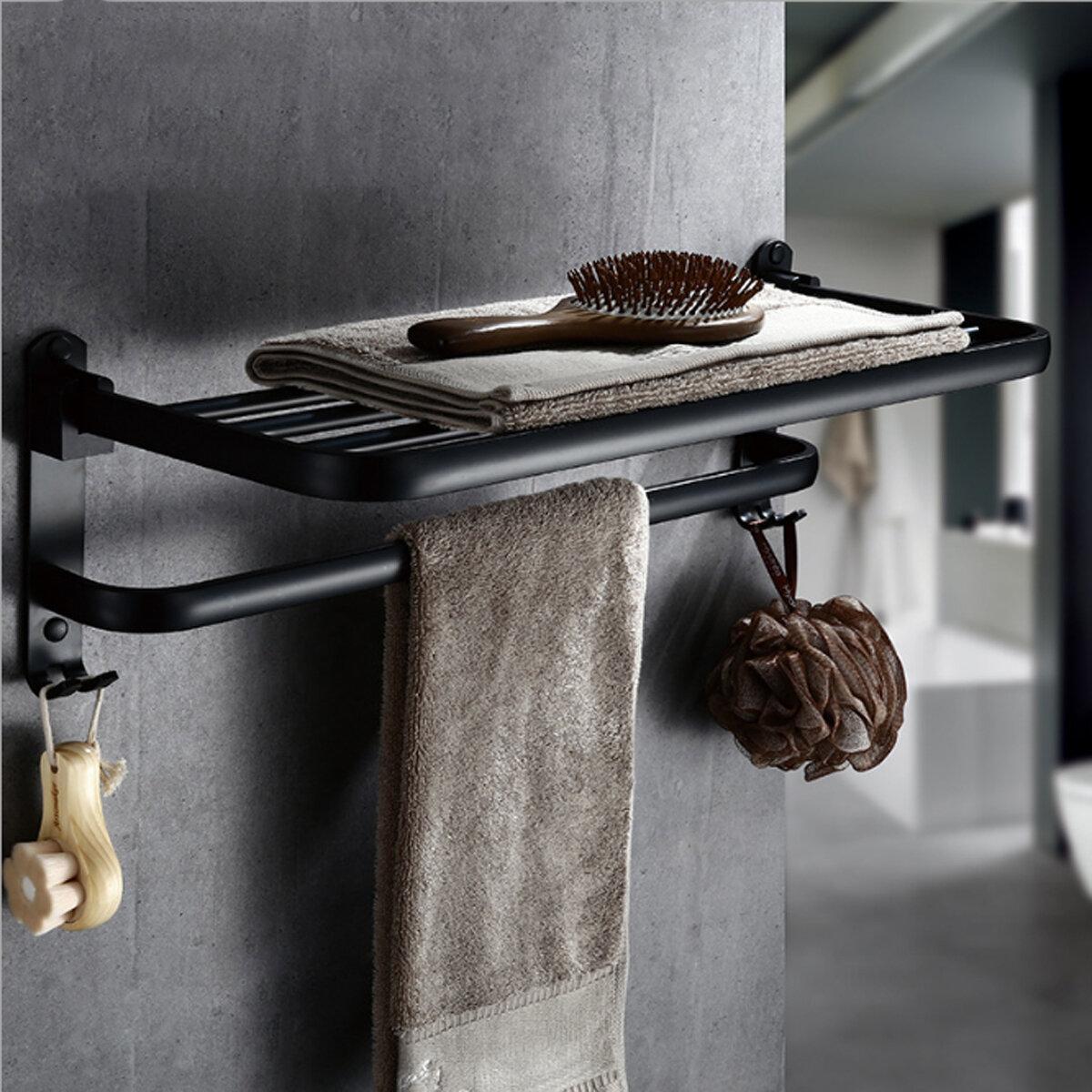 faltbare vintage handtuchhalter schwarz kurze aluminium