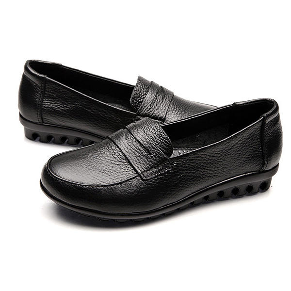 New Women Soft Casual Comfortable Flats Loafers Slip On Fashion Round Toe Flats Shoes - 7