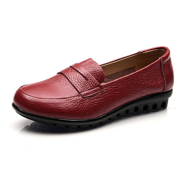 New Women Soft Casual Comfortable Flats Loafers Slip On Fashion Round Toe Flats Shoes - 1
