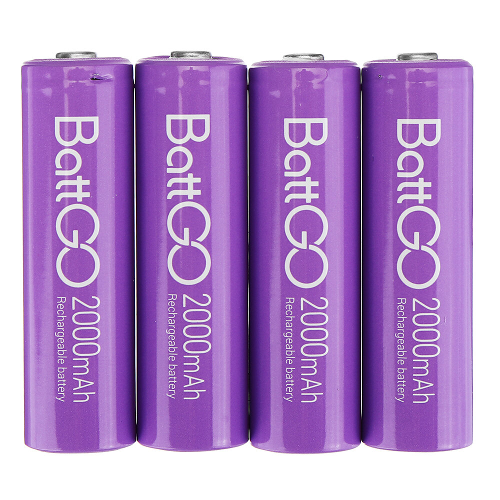 4Pcs ISDT 1.5V 2000mAh Rechargeable AA Ni MH Battery for ISDT C4 N8 Charger - 1