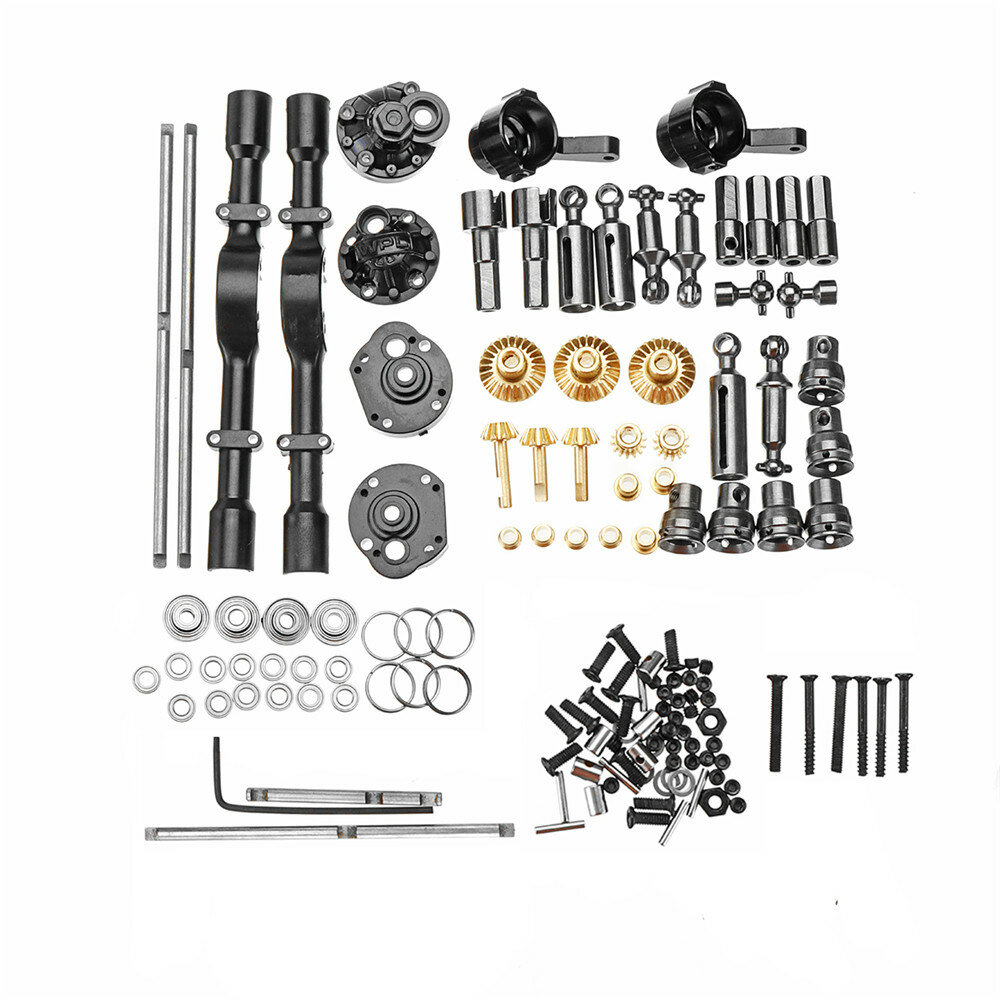 1 Full Set Metal OP Replacement Accessories Middle Bridge Axle for WPL B16 B36 1/16 6WD Rc Car Parts