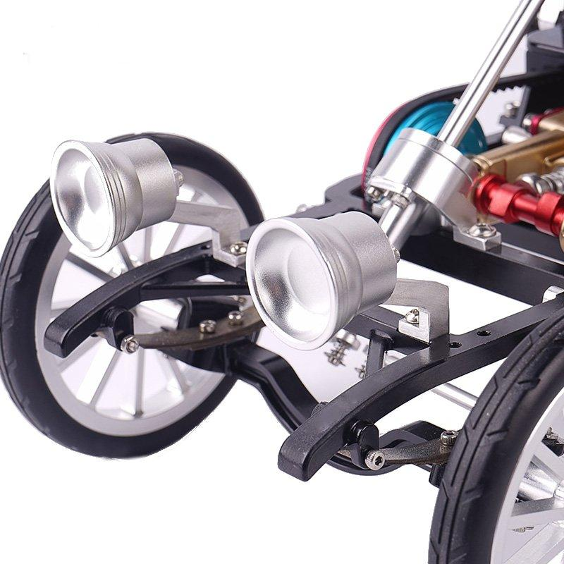 Teching DM34 Steam Car Model Stirling Engine Full Metal Model Toy Collection Gift Decor - 4