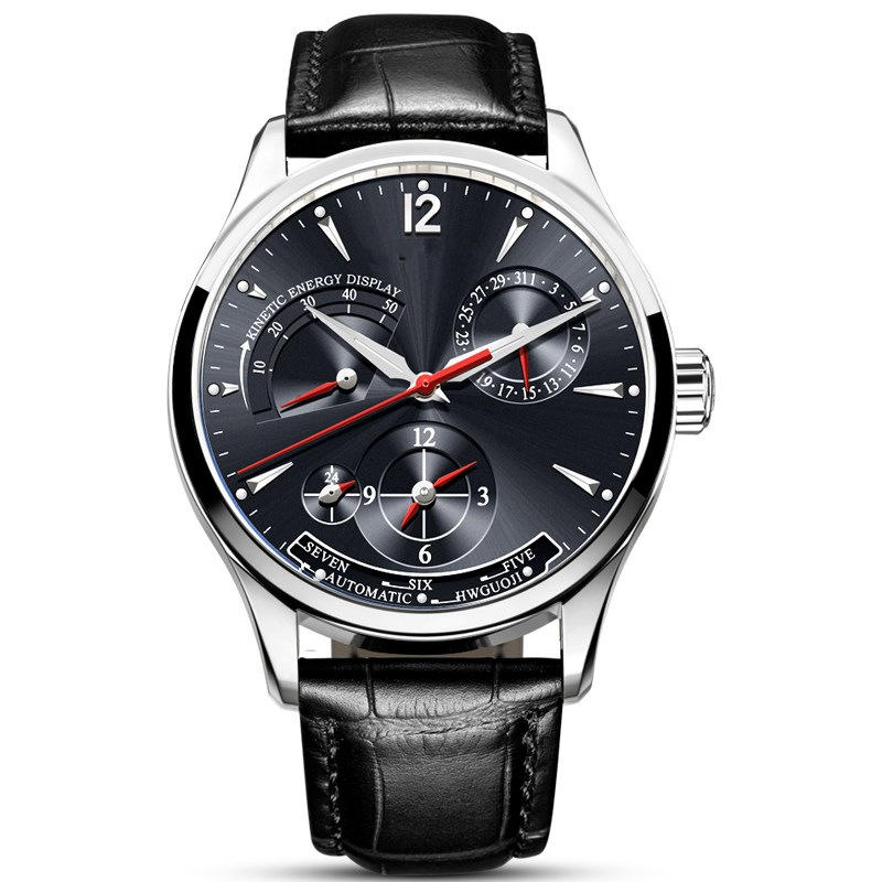 BIDEN BD8509 Moon Phase Automatic Mechanical Watch - 3