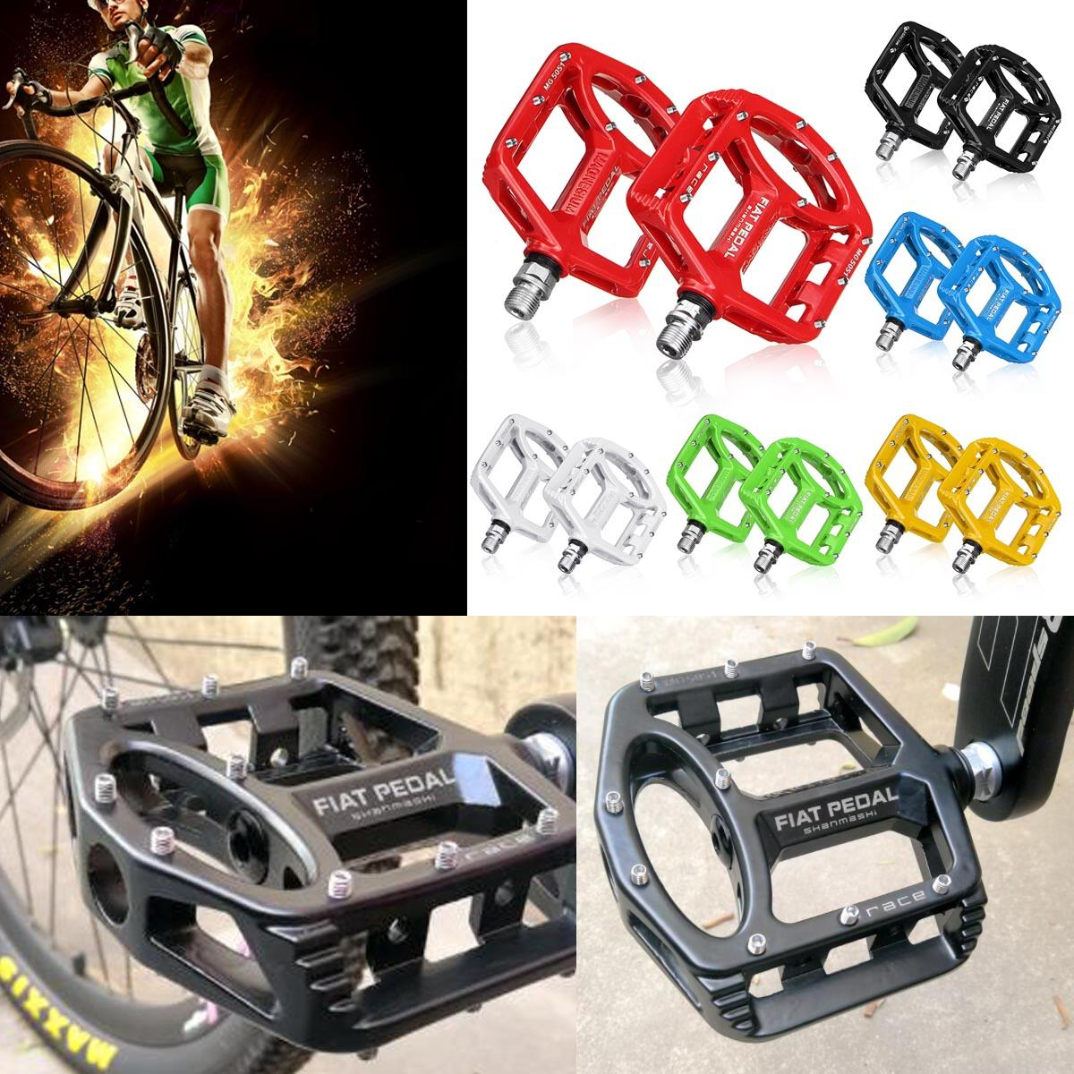 Pairs of Mountain Bike Platform Pedals Flat Sealed Bearing Bicycle Pedals 9//16