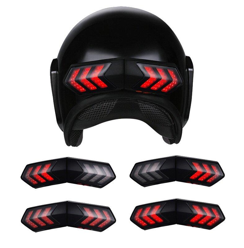 Motorcycle Helmets For Sale >> 12v Wireless Motorcycle Helmet Led Brake Turn Signal Light Indicators