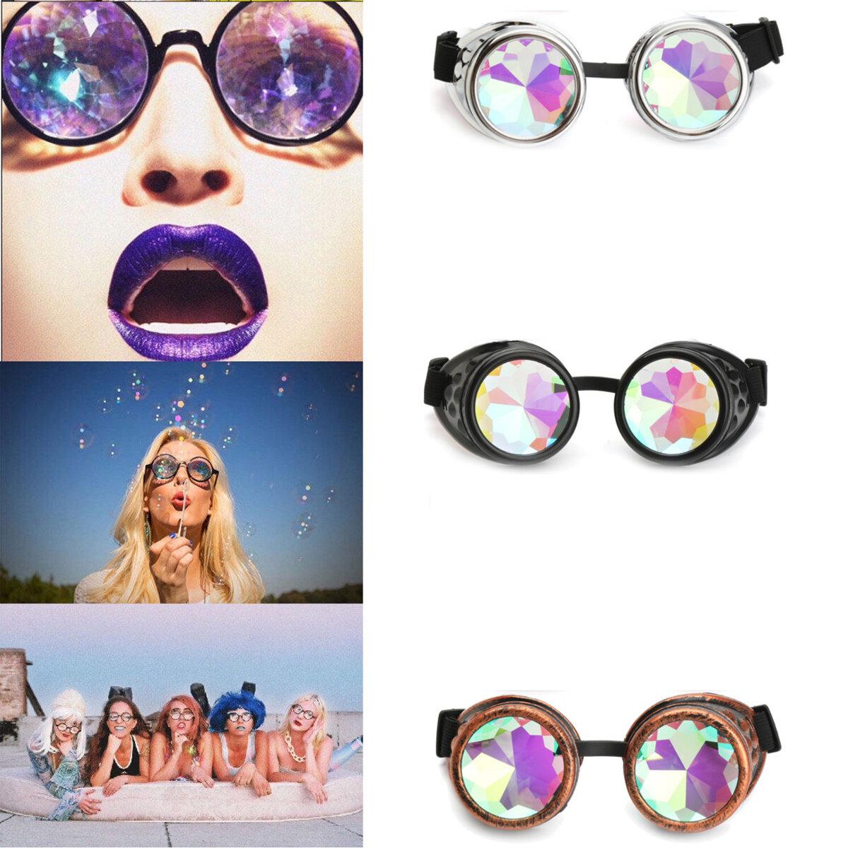BIKIGHT al aire libre Festivales Caleidoscopio Gafas para Raves - Lentes Cristal de Difracción de Prisma