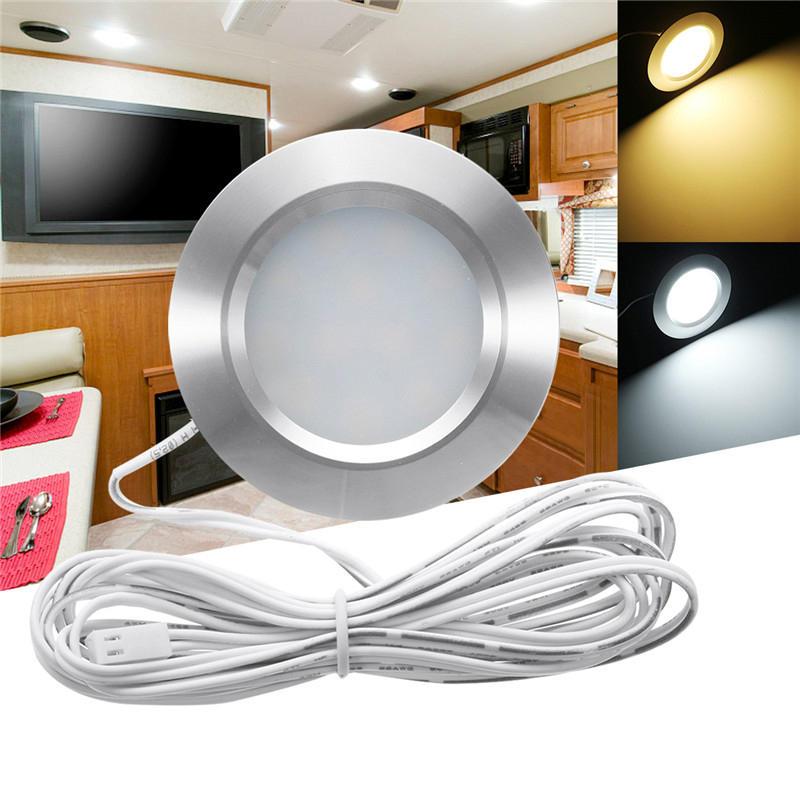 RV LED Plafoniera da incasso rotondo a soffitto a pannello piatto lampada bianco caldo / bianco