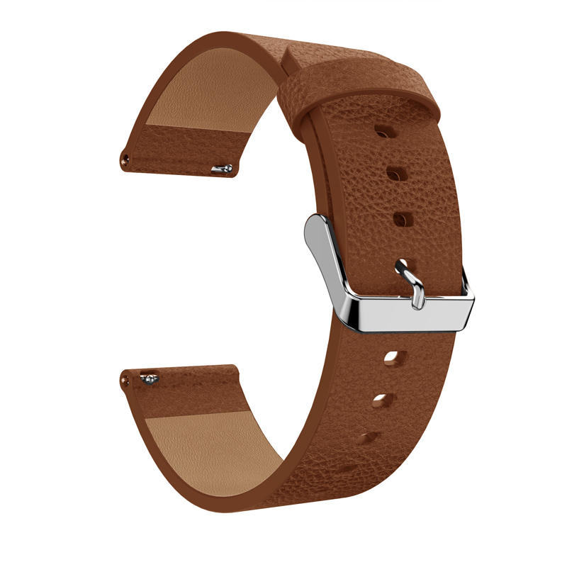 23mm Litchi Genuine Leather Watch Band Fashion Replacement For Fitbit Versa