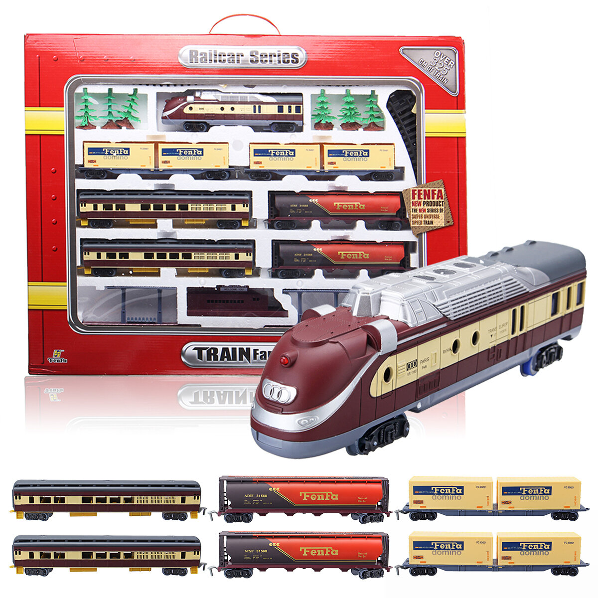 Clic Train Rail Vehicle Toys Set