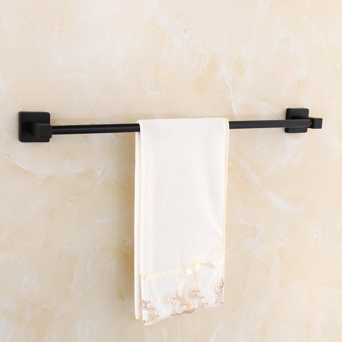 Matt Black Square Towel Holder Rack