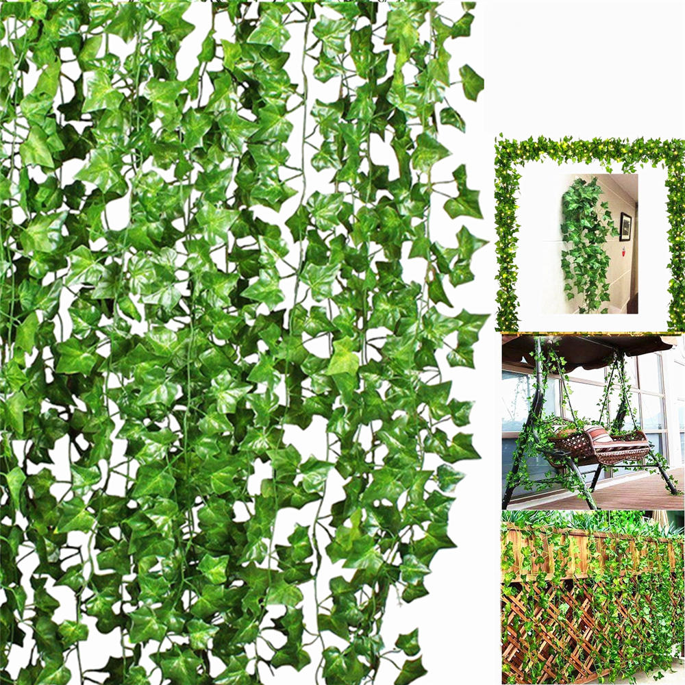10pcs Artificial Trailing Ivy Vine Leaf Ferns Greenery Garland