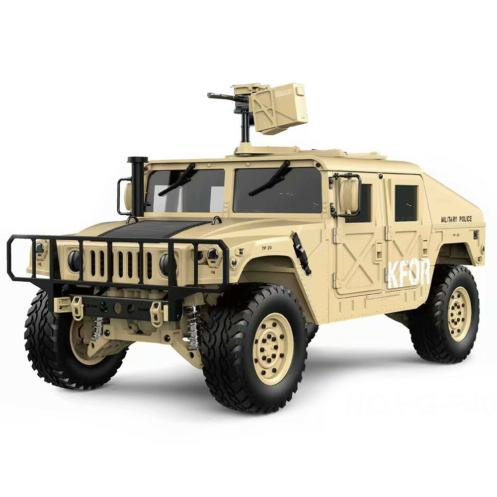 HG P408 Upgraded Light Sound Function 1/10 2.4G 4WD 16CH 30km/h Rc Model Car U.S.4X4 Truck without Battery Charger