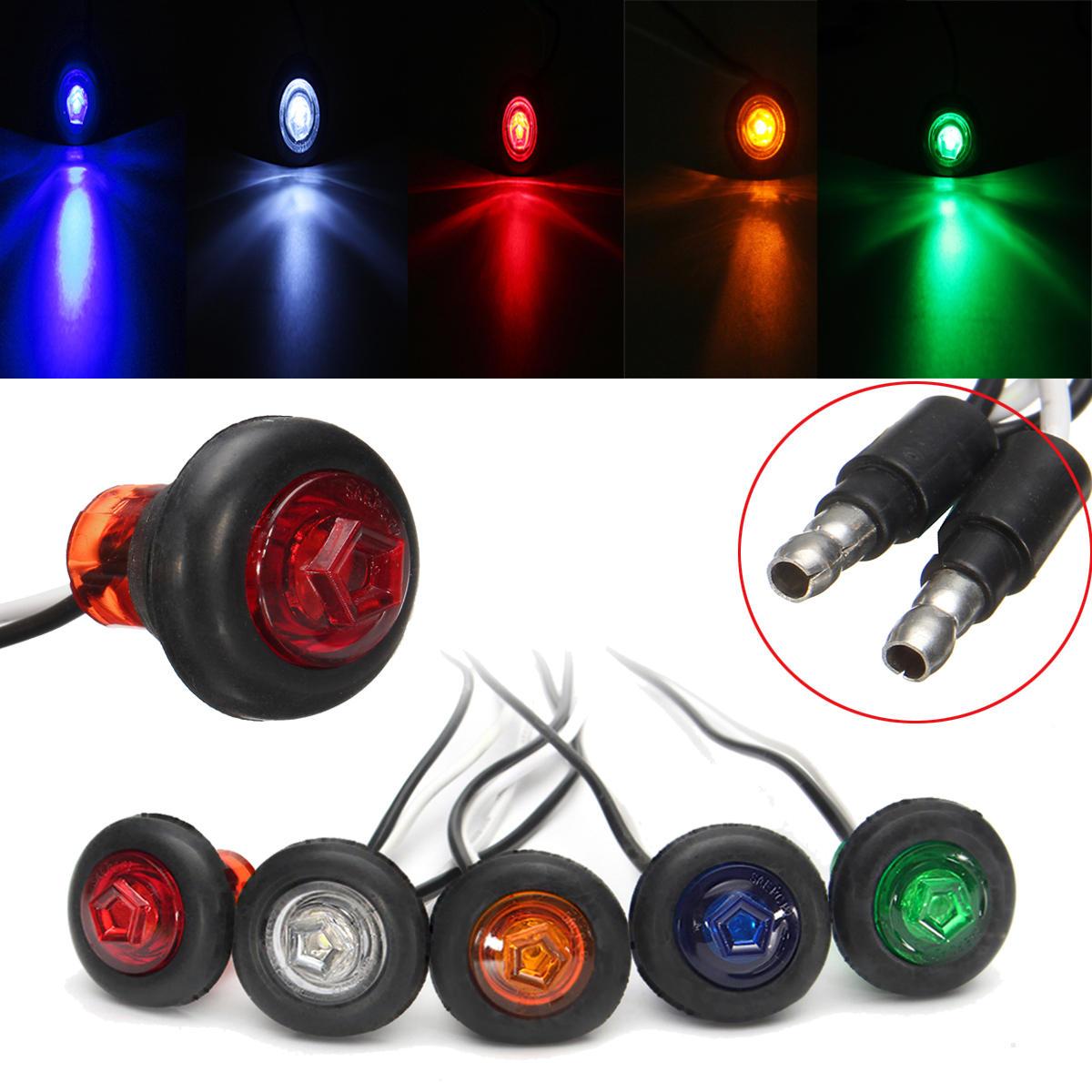 12 / 24V 3 / 4inch Perahu Penjemputan Truk Trailer LED Izin Side Marker Lampu Indikator Lampu