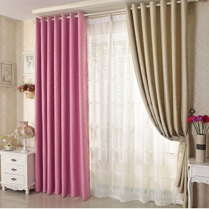 Honana WX-C13 Sky Star Blackout Curtains Thermal Insulated Grommets Drapes for Bedroom Decor фото