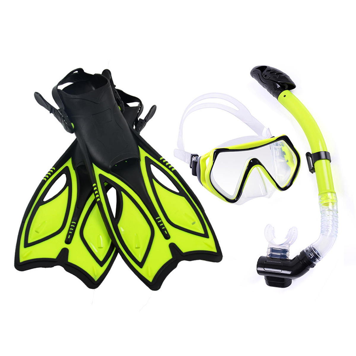 Diving Mirror Snorkeling Mask Rainbow Silicone Breathing - 2