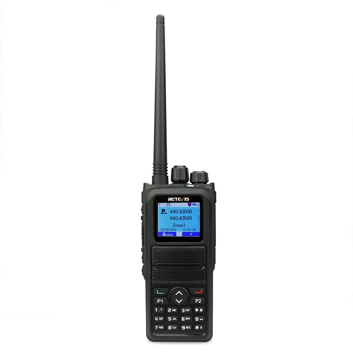 Retevis RT84 DMR Dual Band Walkie Talkie 5W VHF UHF DMR Digital/Analog Two-way Radio Transceiver
