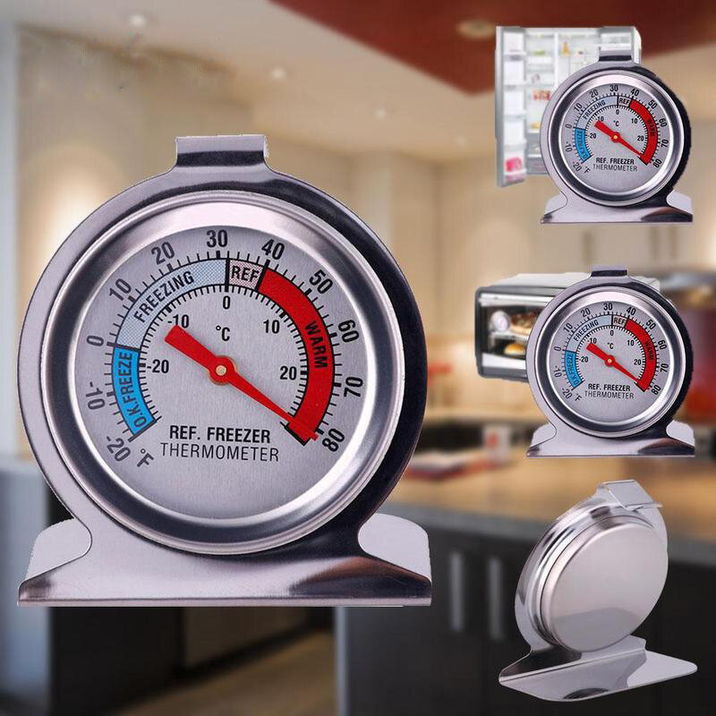 Stainless Steel Refrigerator Freezer Temperature Dial Type Stainless Thermometer