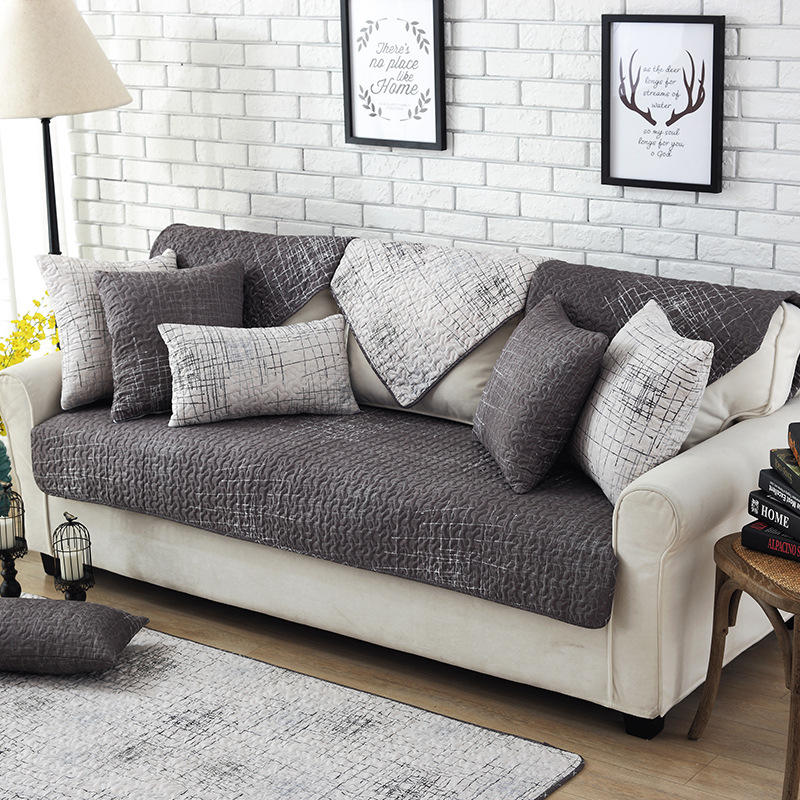 Modern Magical Sofa-cover Corner Fabric Double Towel Non-slip Sofa Cover  Set Slip Cover Sofa Cover